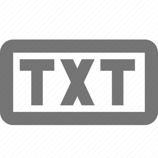 extension, format, txt icon