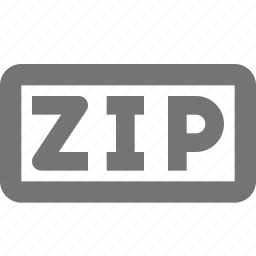 extension, format, zip icon