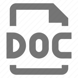 doc, extension, file, format icon