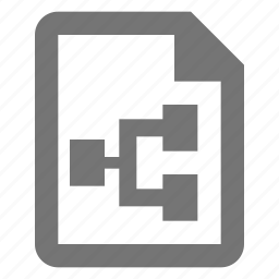 document, extension, file, flowchart, paper, sheet icon