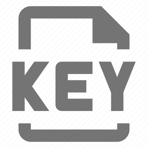 extension, file, format, key icon
