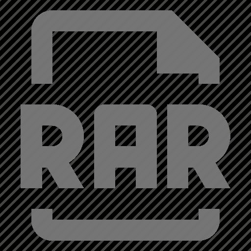 extension, file, format, rar icon