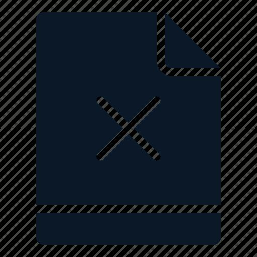 cross, denied, error, file icon