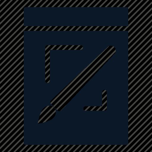 Raster, image, graphic, brush, file icon