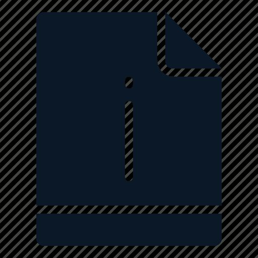 file, important, info, notice icon