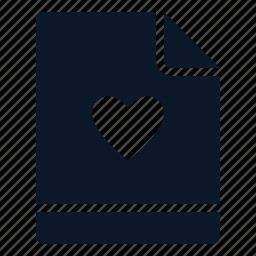 favorite, file, like, love icon