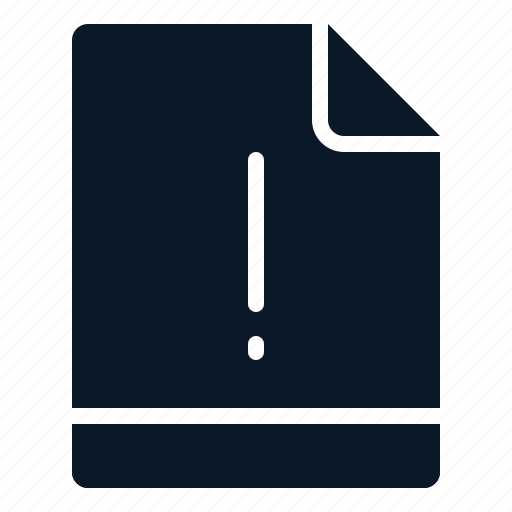 exclamation, file, important, notice icon