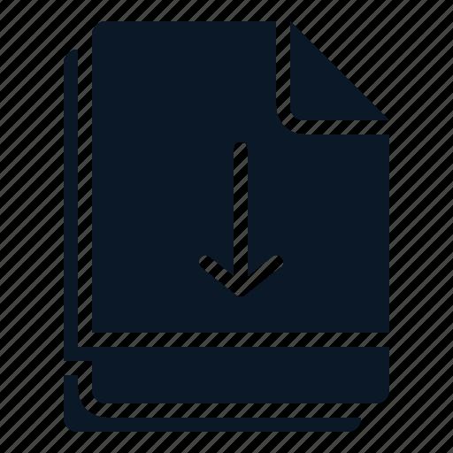 arrow, down, file, move, multiple icon