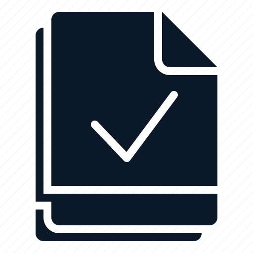 check, file, multiple, valid, verify icon