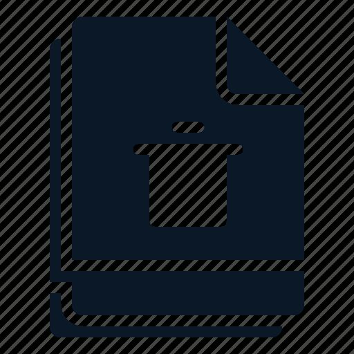 bin, delete, file, multiple, trash icon