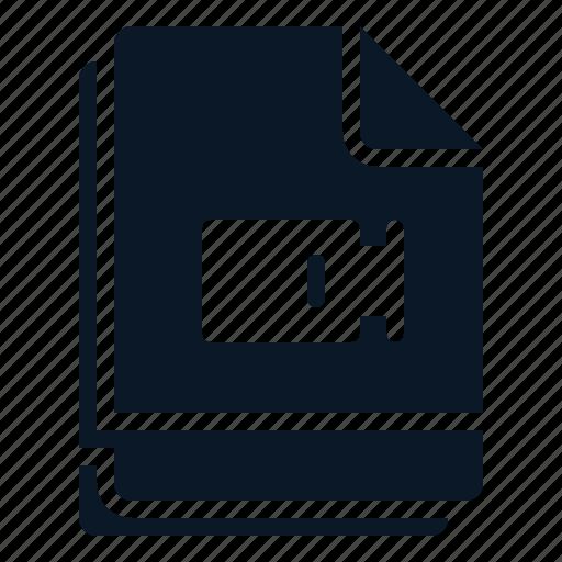 clip, file, movie, multiple, video icon