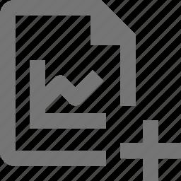 add, file, graph, new, plus icon