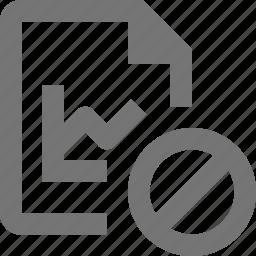 block, file, graph, stop icon