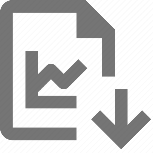 arrow, document, download, file, format, graph, paper, sheet icon