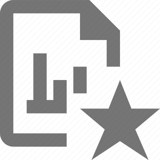 document, favorite, file, format, graph, paper, sheet, star icon