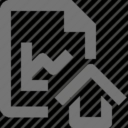 file, graph, home, house icon