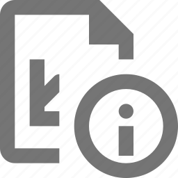 file, graph, information icon