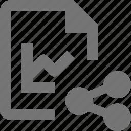 file, graph, share, statistic icon