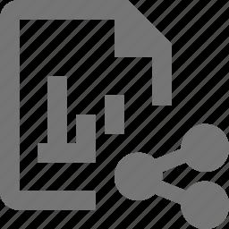 file, graph, share icon