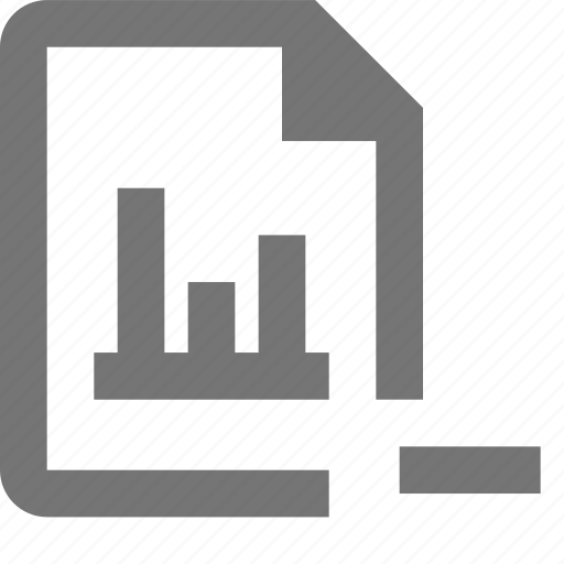 document, file, format, graph, minimize, minus, paper, sheet icon