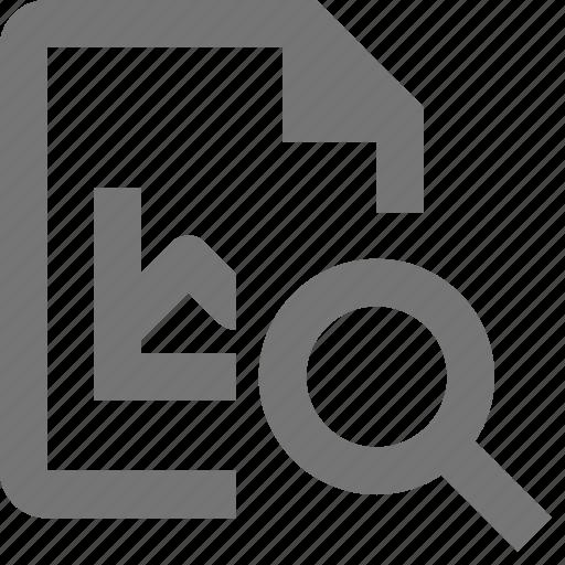 file, graph, magnify, search, view icon