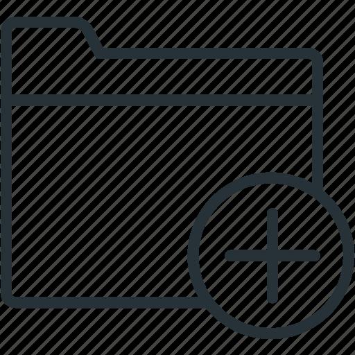 add, files, folder icon