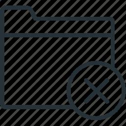block, close, files, folder icon