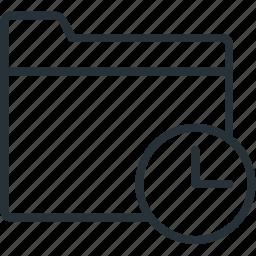 files, folder, timing icon