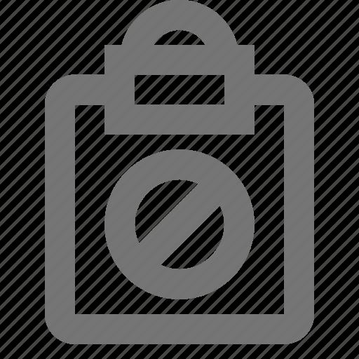 block, clipboard, file, reminder, save, stop, task, write icon