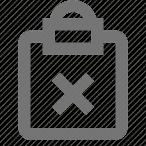 clipboard, close, delete, file, reminder, save, task, write icon