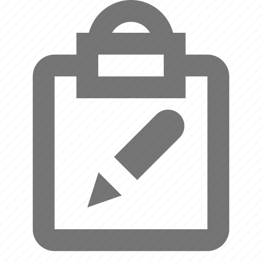clipboard, edit, pen, pencil, reminder, save, task, write icon