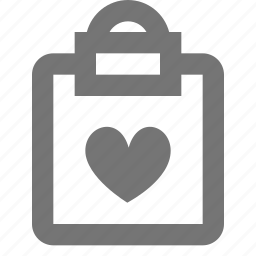 clipboard, favorite, heart, like, reminder, save, task, write icon