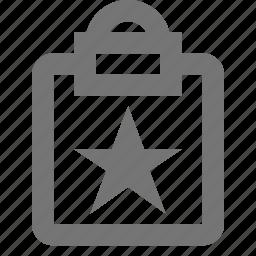 clipboard, favorite, star, tasks icon