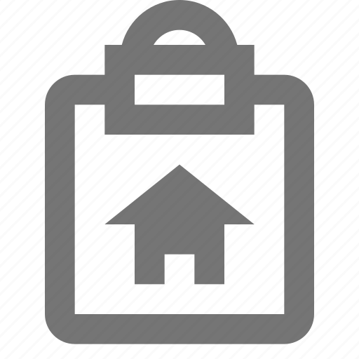 clipboard, file, home, house, reminder, save, task, write icon