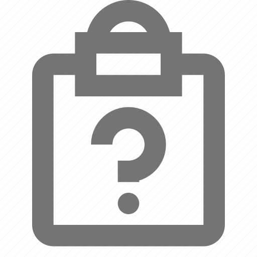 clipboard, file, help, question, tasks icon