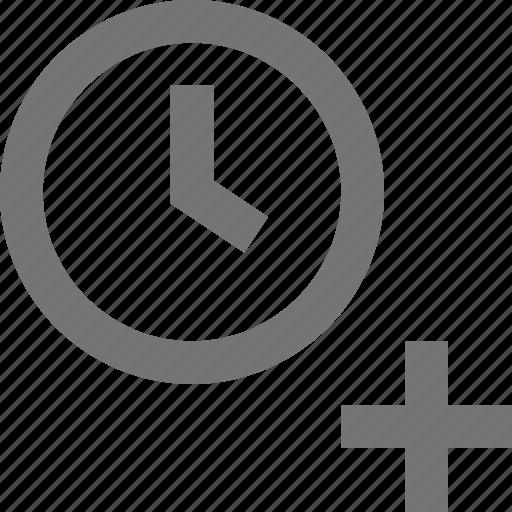 add, clock, new, plus, time icon