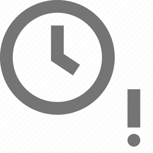 alert, clock, errror, exclamation, time icon