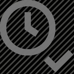 check, clock, select, time icon