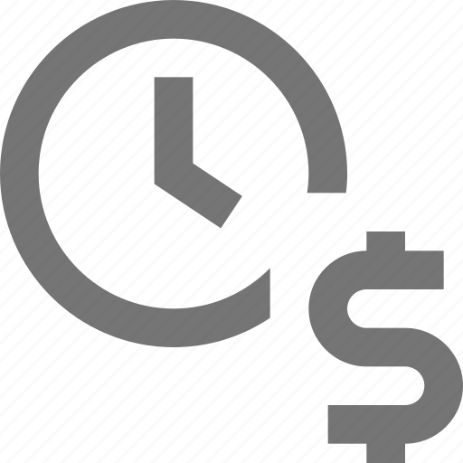 clock, currency, day, dollar, money, reminder, schedule, time icon