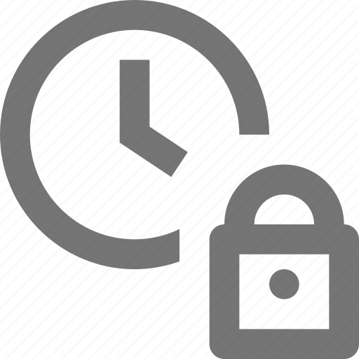 clock, lock, security, time icon