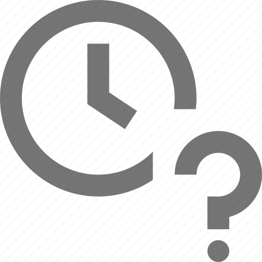 clock, help, question, time icon
