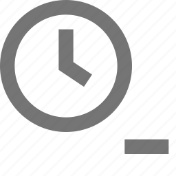 clock, day, minimize, minus, reminder, remove, schedule, time icon