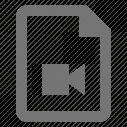 camera, file, movie, video icon