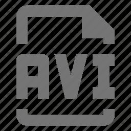 avi, file, video icon