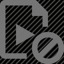 block, file, stop, video icon
