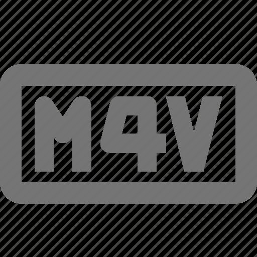 m4v, video icon