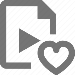 favorite, file, heart, like, video icon