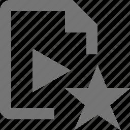 favorite, file, star, video icon