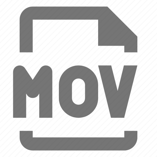 document, file, format, media, mov, paper, sheet, video icon