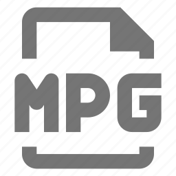document, file, format, mpg, paper, sheet, video icon